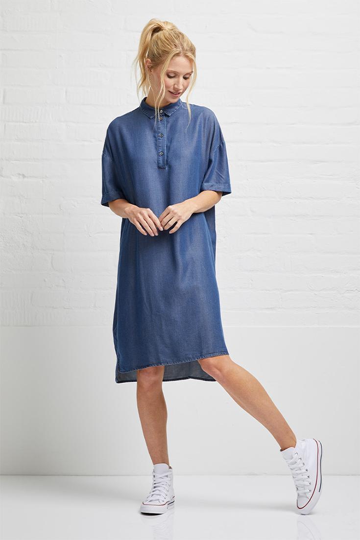 Fair Fashion Jeans– Unsere Eco Denim Favoriten: nachhaltiges Jeanskleid, Öko Jeans, Bio Jeans, Denim Dress von Wunderwerk