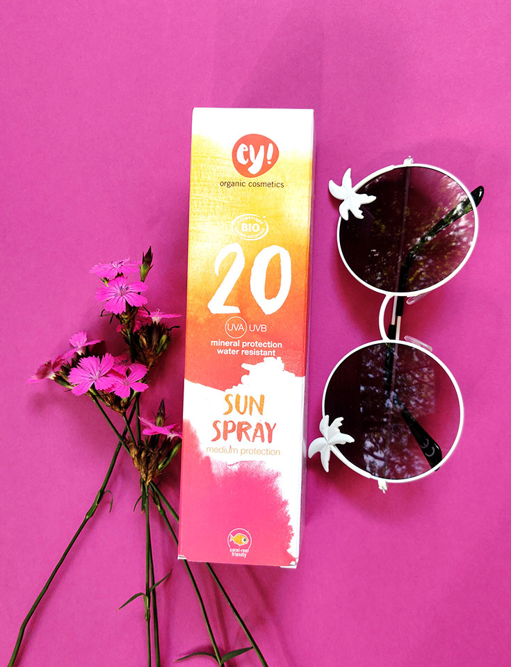 Ey! Organic Cosmetics – Natürlicher Sonnenschutz für Körper und Gesicht, Naturkosmetik Sonnencreme, mineralische Sonnenpfege, Bio Kosmetik Sunspray