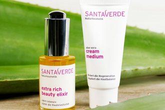 Peppermynta Brandfinder. Santaverde setzt mit ihrer Naturkosmetik auf Aloe Vera und baut diese in Handarbeit in Andalusien selbst an. Natürliche Kosmetik für sensible, unreine oder für Anti-Aging.