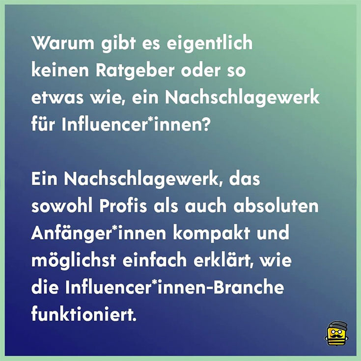 Das Influencer:innen Handbuch – wir verlosen fünf Content Creator Ratgeber, Influencer Marketing, faire Bezahlung für Blogger, TKP, Preise berechnen, Vergütung