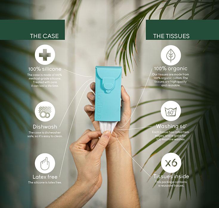 LastSwab – Nachhaltige Wattestäbchen zum Wiederverwenden: LastTissue. Nachhaltige Stofftaschentücher aus Bio-Baumwolle
