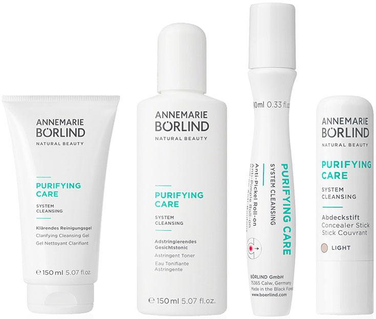 Naturkosmetik für unreine Haut – Natürliche Gesichtspflege gegen Akne & Mitesser: Annemarie Börlind Purifying