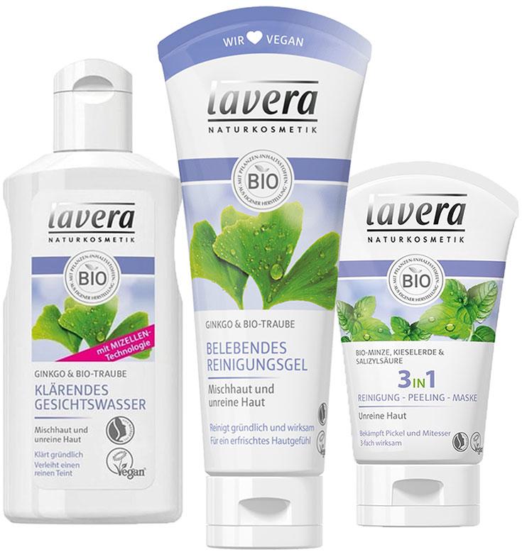 Naturkosmetik für unreine Haut – Natürliche Gesichtspflege gegen Akne & Mitesser: Lavera