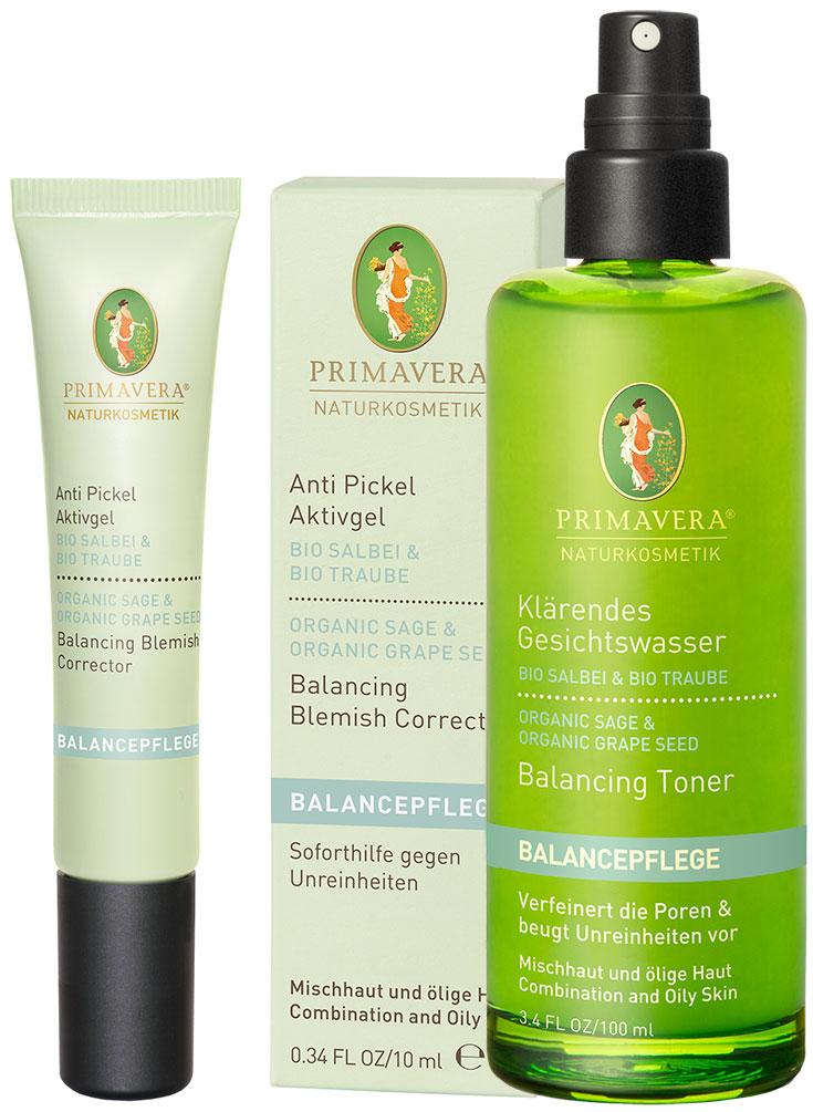 Naturkosmetik für unreine Haut – Natürliche Gesichtspflege gegen Akne & Mitesser: Primavera