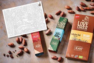 Farb-Meditation – achtsames Ausmalen mit Lovechock rohe und vegane Bio Schokolade, Ausmalbild, gratis Vorlage zum ausmalen