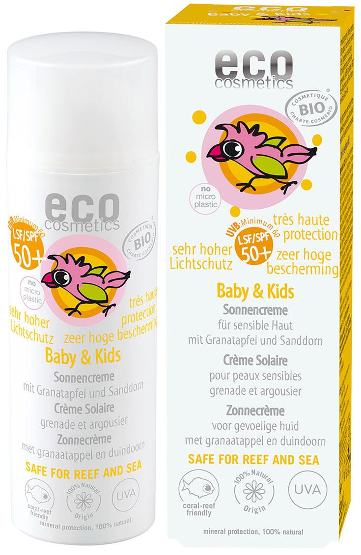 Eco Cosmetics – Mineralischer Sonnenschutz für Babys und Kinder: natürliche Sonnenpflege für sensible Haut, Naturkosmetik Sonnencreme für Kleinkinder