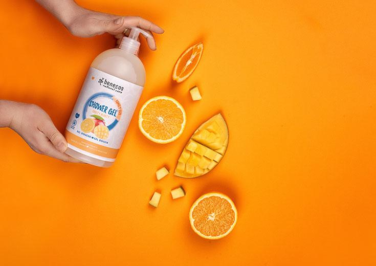 benecos – Naturkosmetik Duschgel und Shampoo in Familiengröße, Family Size: 950 ml, Fruity Beauty