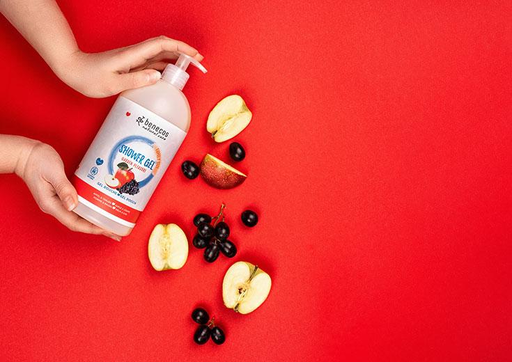 benecos – Naturkosmetik Duschgel und Shampoo in Familiengröße, Family Size: 950 ml, Garden Pleasure