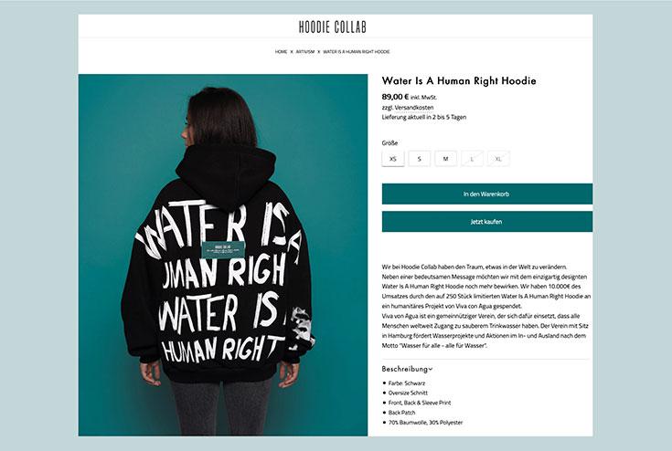 Purestain Kritik – Eco Fashion von Influencerin Gerda Lewis? Warum wir das Label kritisch sehen. Fair Fashion und nachhaltige Mode von Purestain? Hoodie Collab: Water is a human right