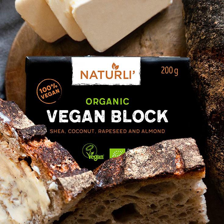Klimakiller Butter – und unsere liebsten veganen Streichfett Alternativen: pflanzliche Butter, vegane Butter, Margarine, klimaschädlich, Klimabilanz, Naturli, Organic Vegan Block