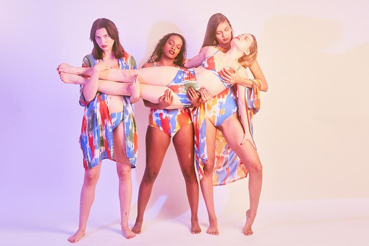 Peppermynta Brandfinder: Margret and Hermione. Nachhaltige Bademode: Neben Fair Fashion Bikini, Badeanzug und Kimonos gibt es auch passende Sportswear.