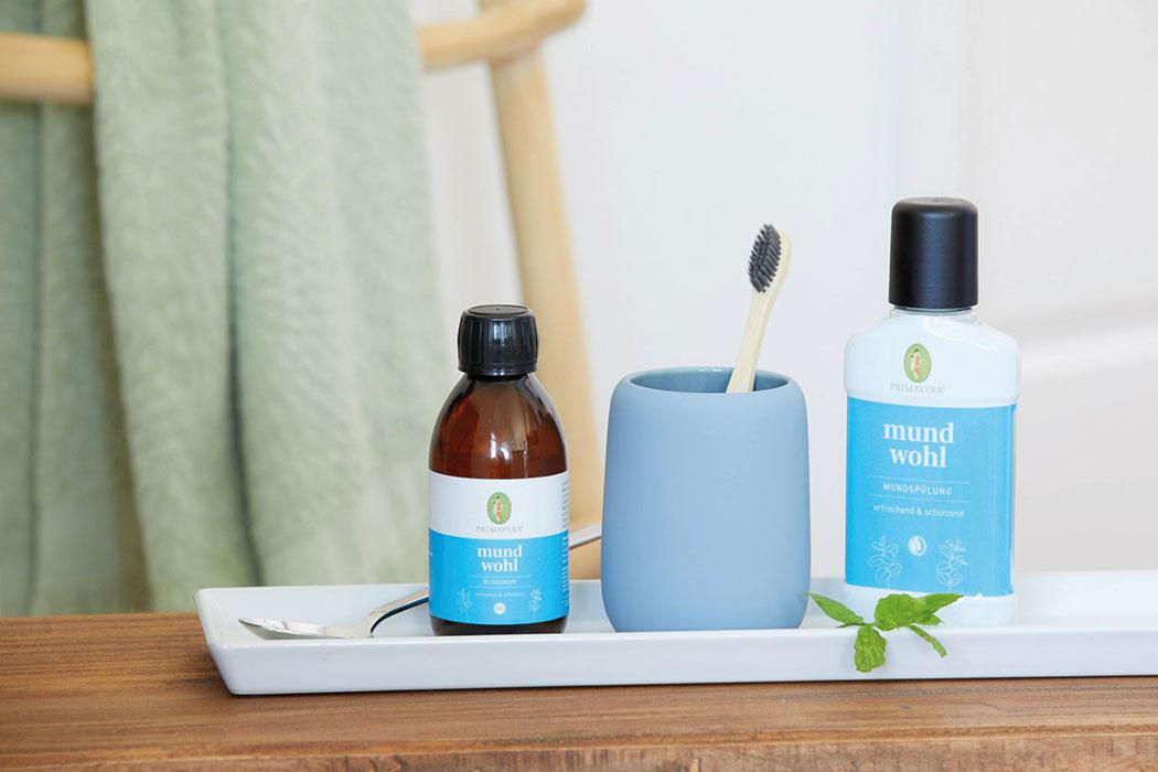 Naturkosmetik Primavera Mundwohl – warum Mundgesundheit, Zahngesundheit mehr als Zähneputzen ist: Ölziehkur, Mundspülung, Lippen Akut Gel