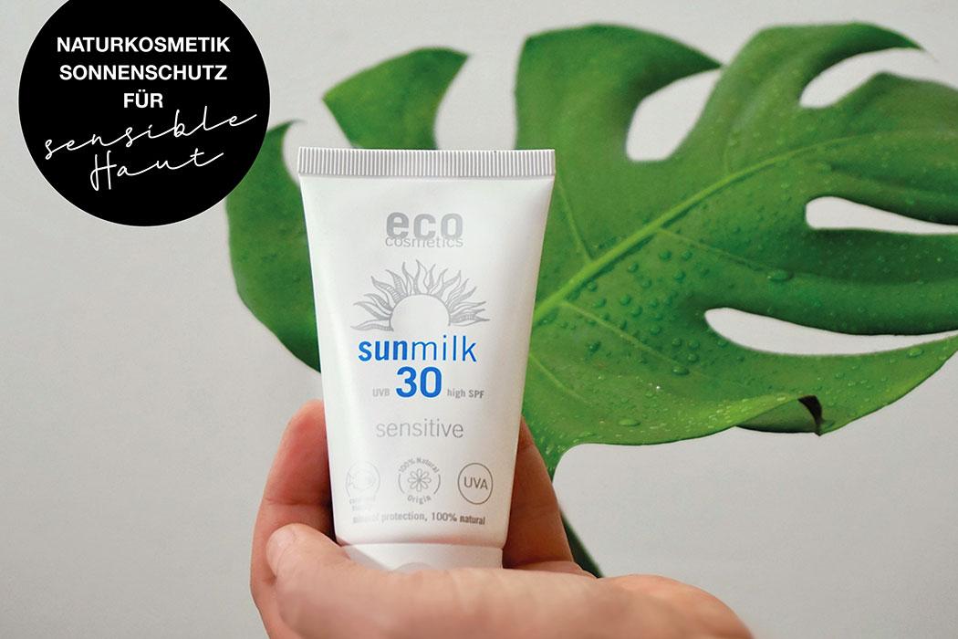 Naturkosmetik Sonnenschutz für empfindliche Haut von Eco Cosmetics: Mallorca Akne, Sonnenallergie, allergische Reaktion? Warum der Naturkosmetik Sonnenschutz für empfindliche Haut von Eco Cosmetics intensiven Schutz liefert, aber dabei besonders gut verträglich ist.