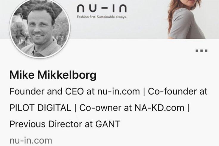 Nu-In: Warum wir das Influencer Label von Stefanie Giesinger und Marcus Butler kritisch sehen: Mike Mikkelborg, Quelle Linked in