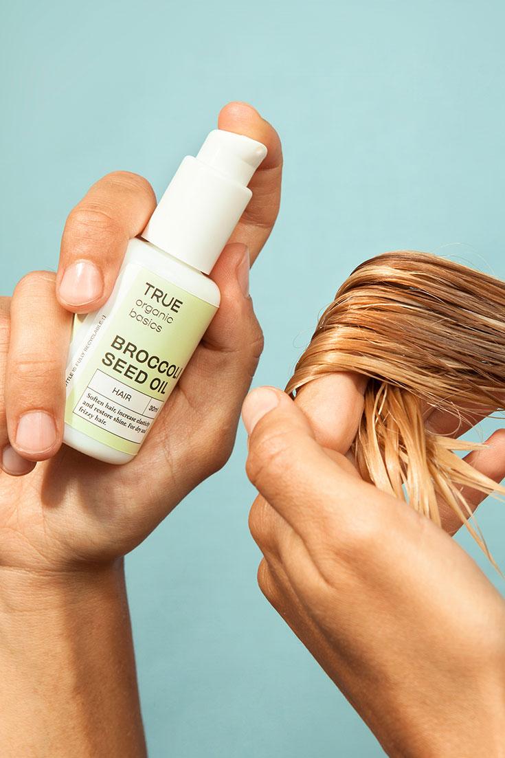 True Organic Basics – Mit Bio-Ölen zu einer gesünderen Haut: Gesichtsöl, Haaröl, Hautpflegeöl, Naturkosmetik, vegane Öle, Brokkolisamenöl