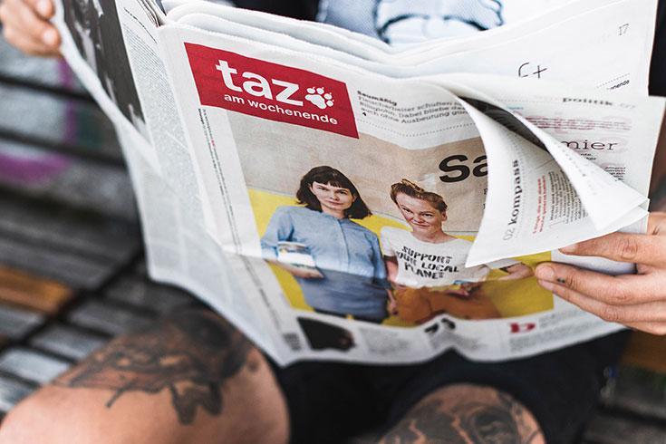 taz x Peppermynta – das nachhaltig Zeitungs-Abo mit Santaverde Naturkosmetik Prämie