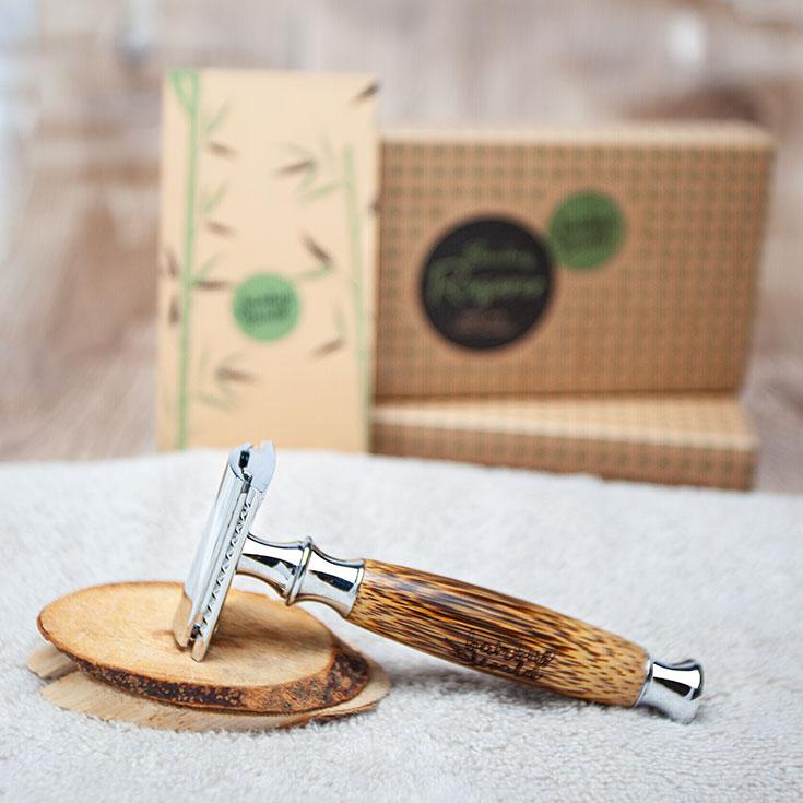 Nachhaltig Rasieren – unsere Favoriten für natürliche Haarentfernung: Naturkosmetik Rasierhobel von Bambuswald