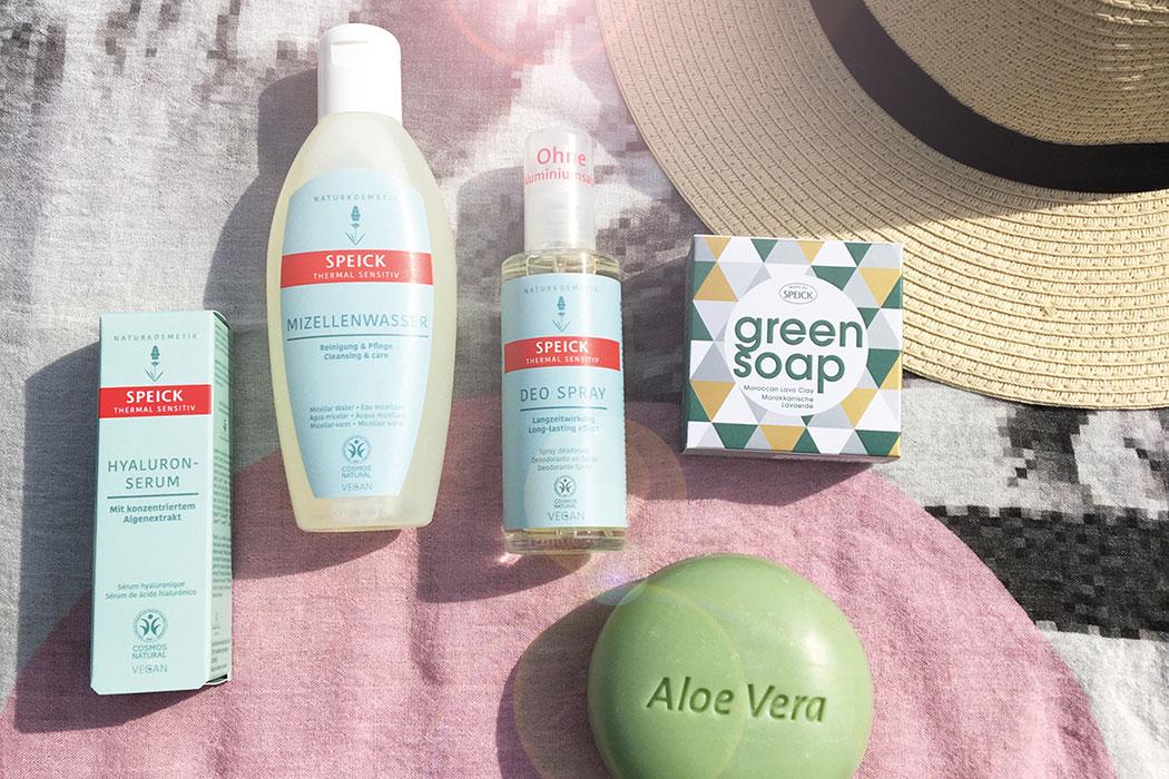 Summer Essentials! Beauty-Tipps für den Sommer von Speick Naturkosmetik: Aloe Vera Serum, Feuchtigkeitspflege, erfrischendes Deo, natürliche Kosmetik, Sommer Kosmetik, Pflegeroutine für den Sommer mit Mizellenwasser