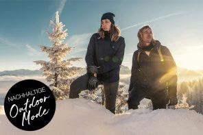Nachhaltige Outdoor Bekleidung - Worauf du beim Kauf achten solltest. Nachhaltige Outwear, faire Wanderbekleidung für Trekking, Hiking, Bergtour, Mountainbiken, nachhaltige Skimode