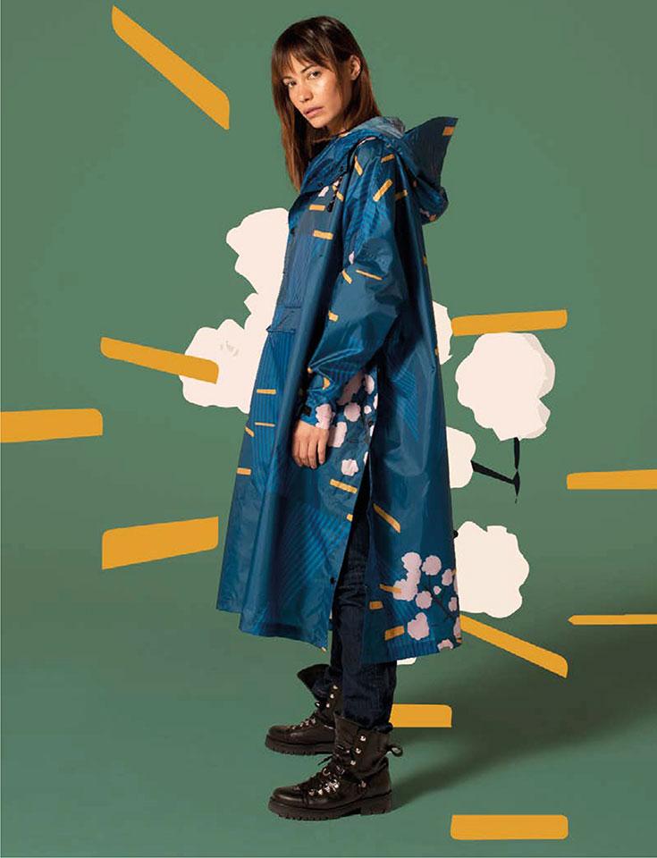 Rainkiss Regenponcho – nachhaltiger Regenmantel aus recyceltem PET: nachhaltige Regenjacke, nachhaltiger Regenmantel