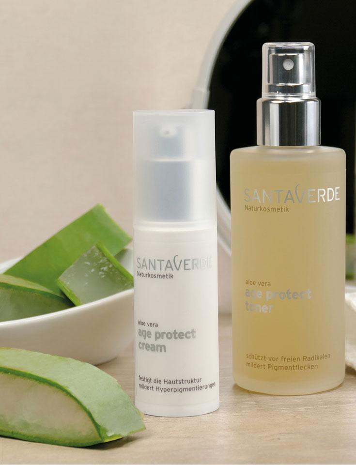 Santaverde – Naturkosmetik Anti-Aging für strahlende Haut. XINGU age perfect cream und age protect, natürliche Kosmetik für reife Haut und trockene Haut